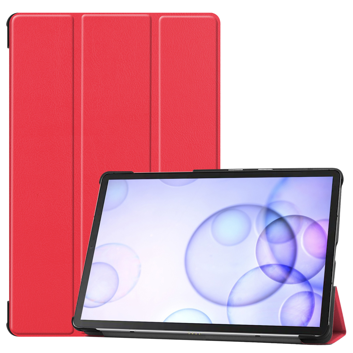 Lunso 3-Vouw sleepcover hoes Rood voor de Samsung Galaxy Tab S6