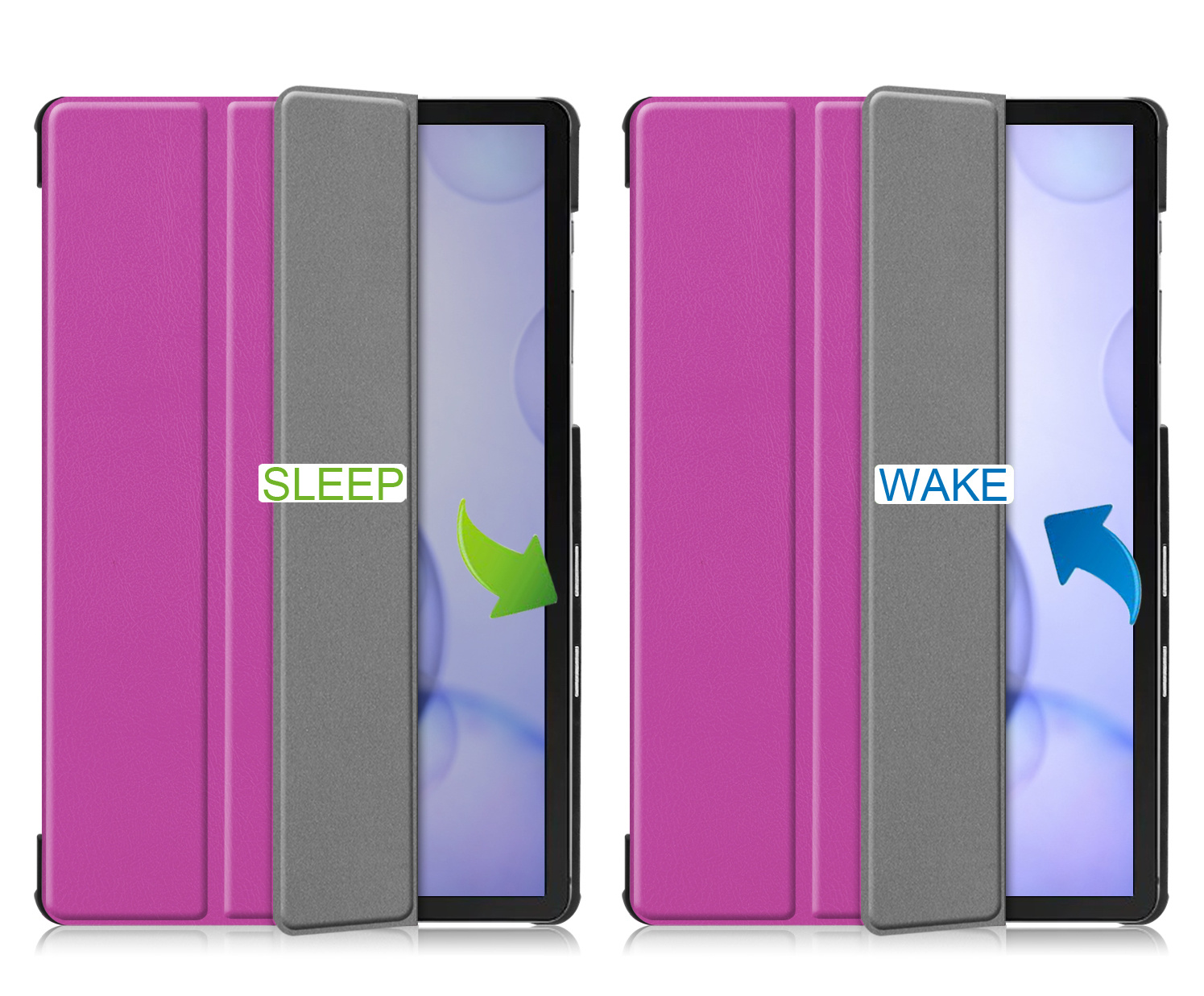 Lunso 3-Vouw sleepcover hoes Paars voor de Samsung Galaxy Tab S6