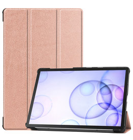 Lunso 3-Vouw sleepcover hoes - Samsung Galaxy Tab S6 - Rose Goud