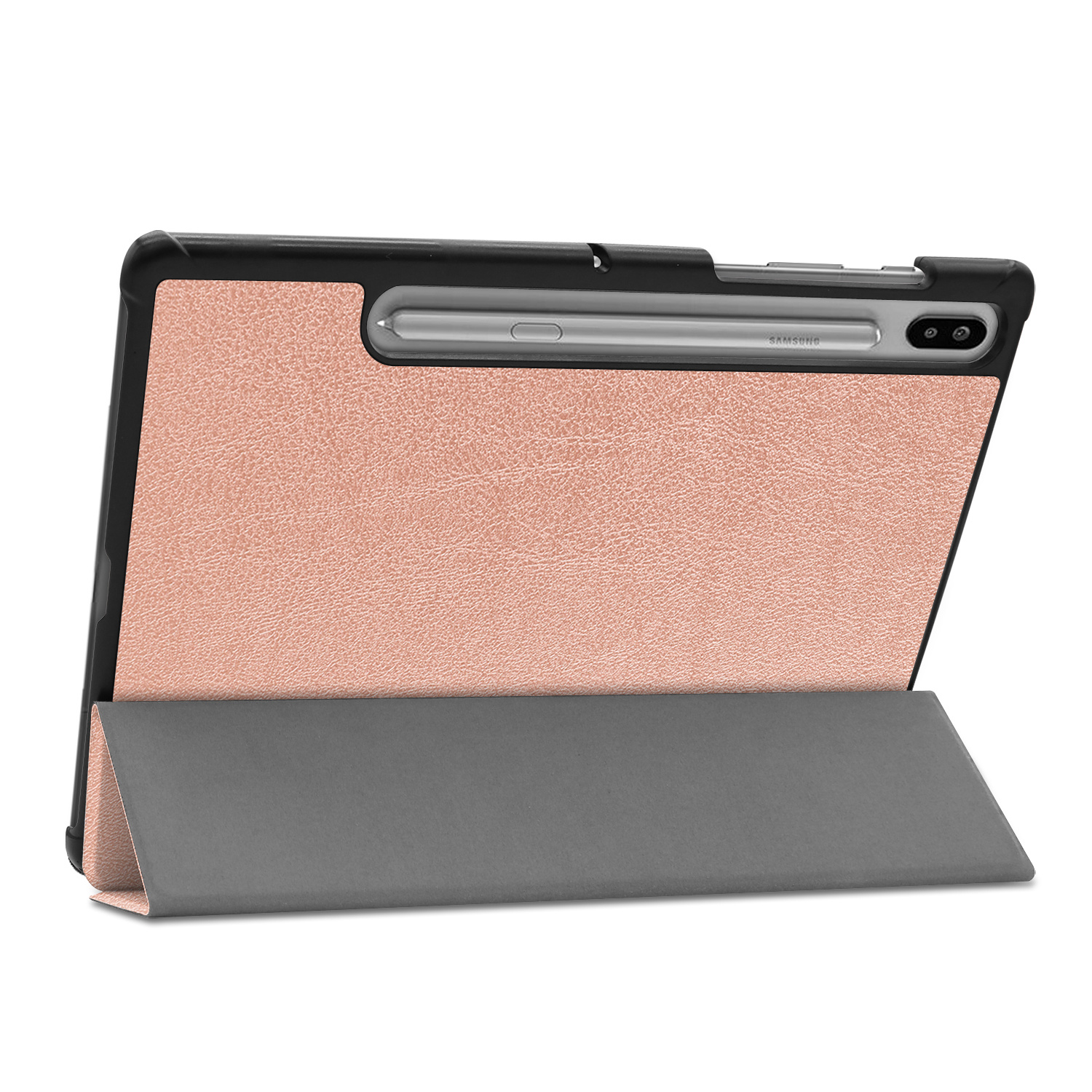 Lunso 3-Vouw sleepcover hoes Rose Goud voor de Samsung Galaxy Tab S6