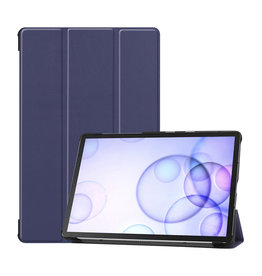 Lunso 3-Vouw sleepcover hoes - Samsung Galaxy Tab S6 - Blauw