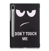 Lunso 3-Vouw sleepcover hoes Don't Touch voor de Samsung Galaxy Tab S6