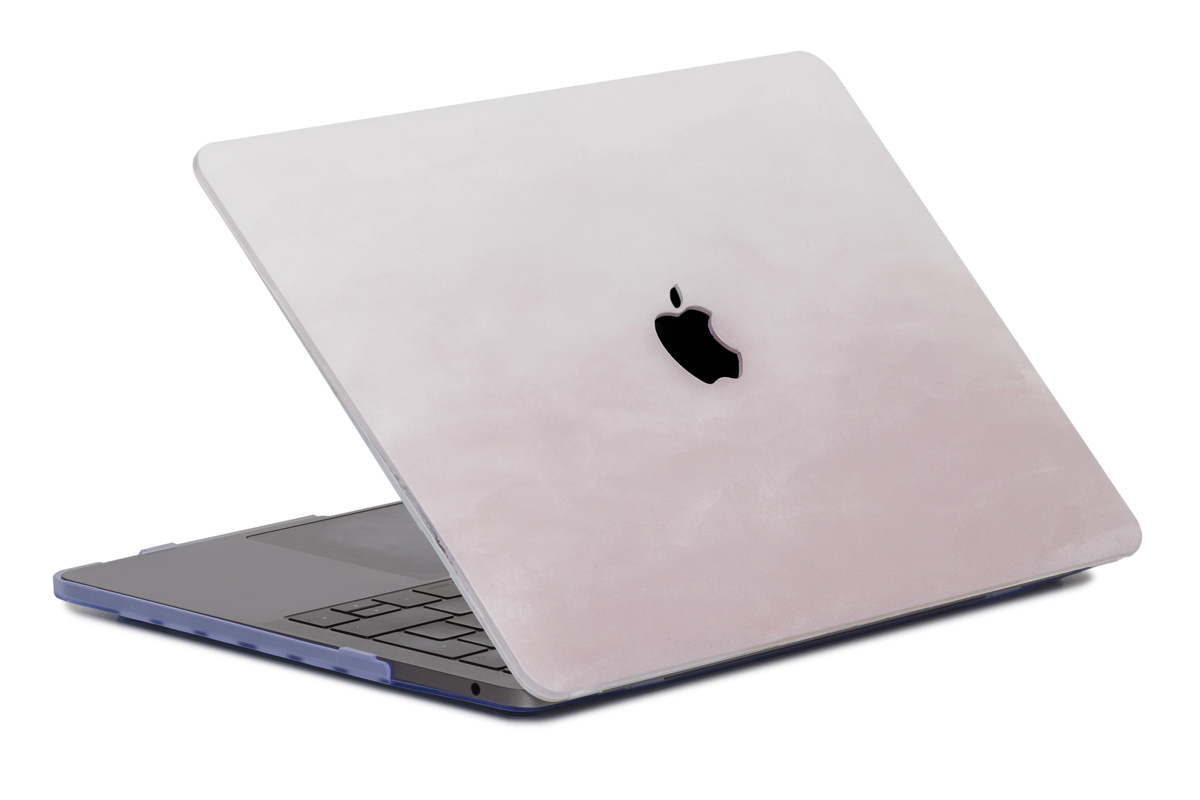 Lunso Dusty Pink cover hoes voor de MacBook Air 13 inch (2018-2019)