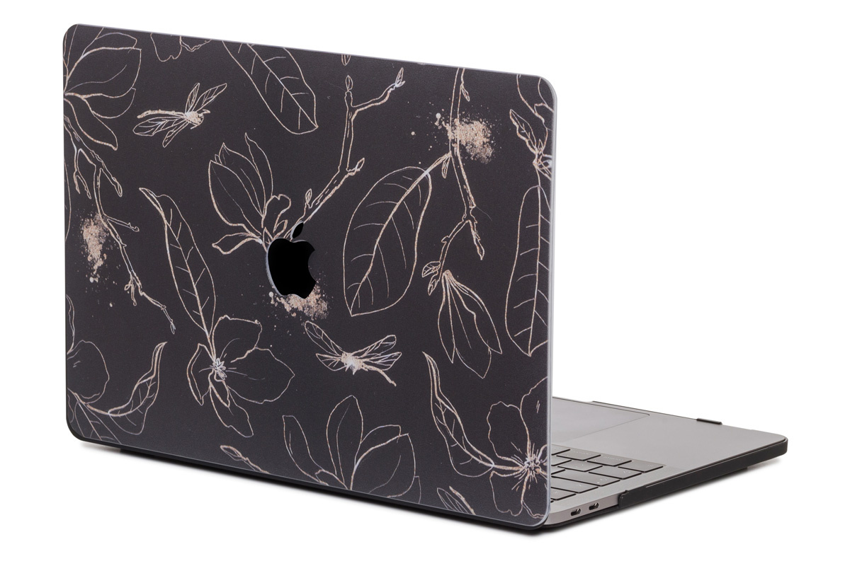 Lunso Dragonfly Black cover hoes voor de MacBook Air 13 inch (2018-2019)
