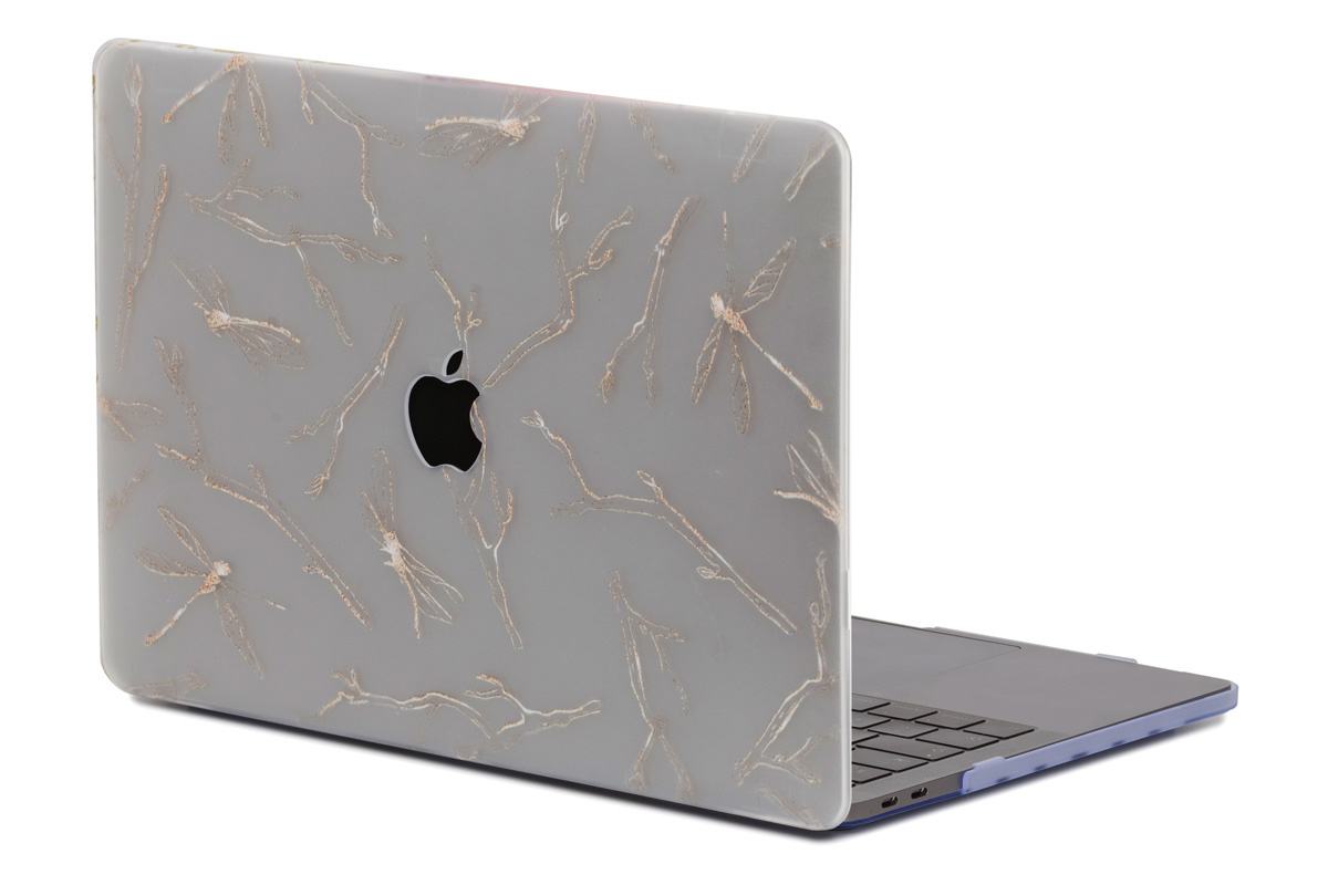 Lunso Dragonfly White cover hoes voor de MacBook Air 13 inch (2018-2019)