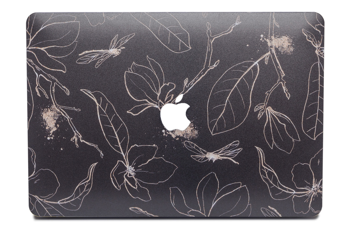 Lunso Dragonfly Black cover hoes voor de MacBook Air 13 inch (2010-2017)