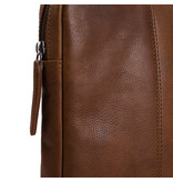 Chesterfield Glenn lederen laptop sleeve hoes Cognac voor 15 inch laptops