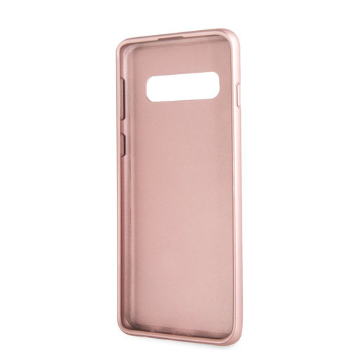 Guess Backcover hoes Rose Goud voor de Samsung Galaxy S10