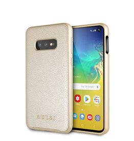 Guess Guess - backcover hoes - Samsung Galaxy S10e - Goud - Lunso beschermfolie