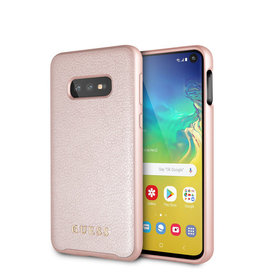 Guess Guess - backcover hoes - Samsung Galaxy S10e - Rose Goud - Lunso beschermfolie