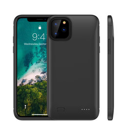 Lunso Lunso - Battery Power Case hoes - iPhone 11 Pro Max - 4000 mAh - Zwart