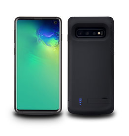 Lunso Lunso - Battery Power Case hoes - Samsung Galaxy S10 - 6000 mAh - Zwart