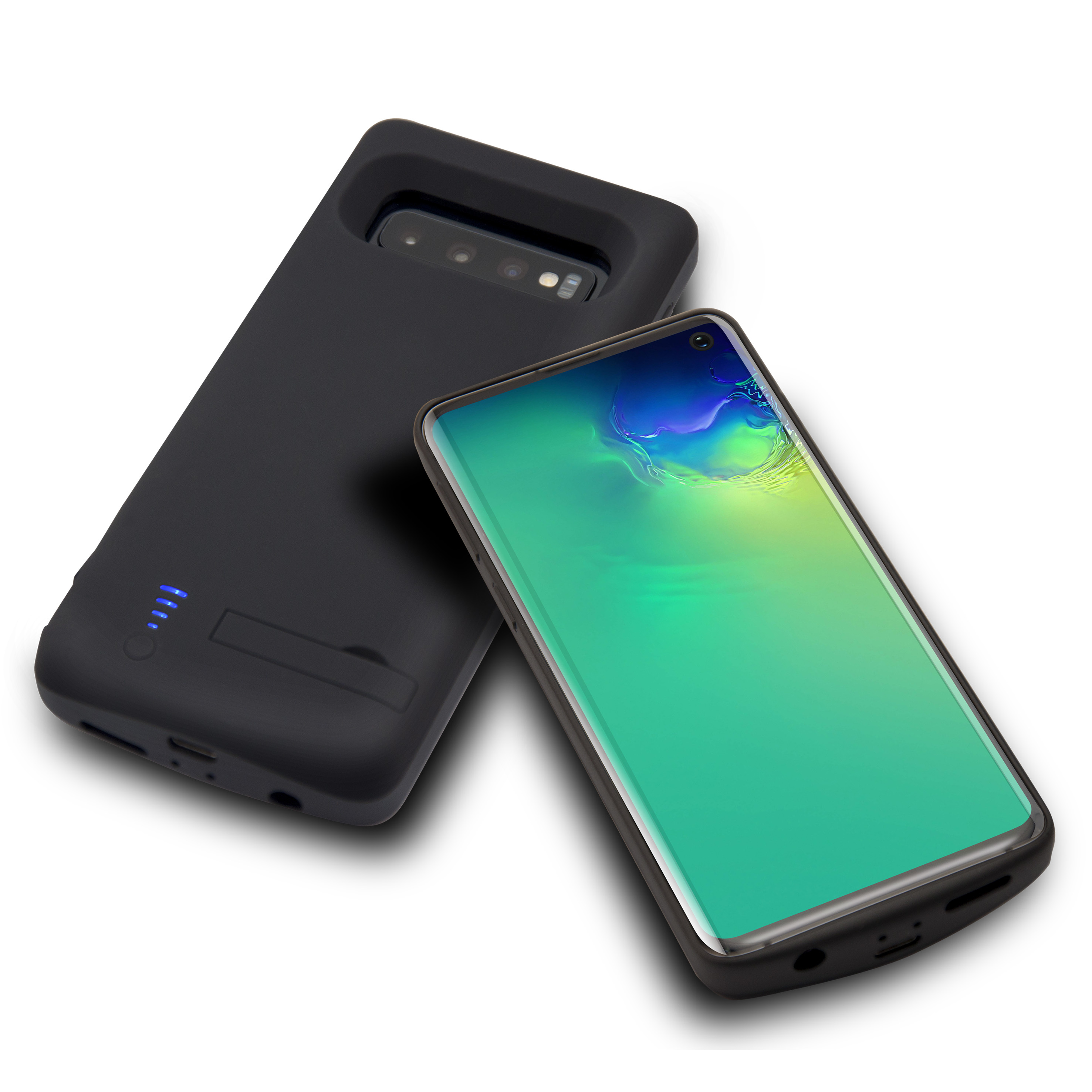 Lunso Battery Power Case hoes 6000 mAh Zwart voor de Samsung Galaxy S10