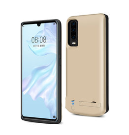 Lunso Lunso - Battery Power Case hoes - Huawei P30 - 5000 mAh - Goud