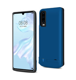 Lunso Lunso - Battery Power Case hoes - Huawei P30 - 5000 mAh - Blauw