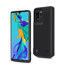 Lunso Lunso - Battery Power Case hoes - Huawei P30 Pro - 5000 mAh - Zwart
