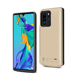 Lunso Lunso - Battery Power Case hoes - Huawei P30 Pro - 5000 mAh - Goud