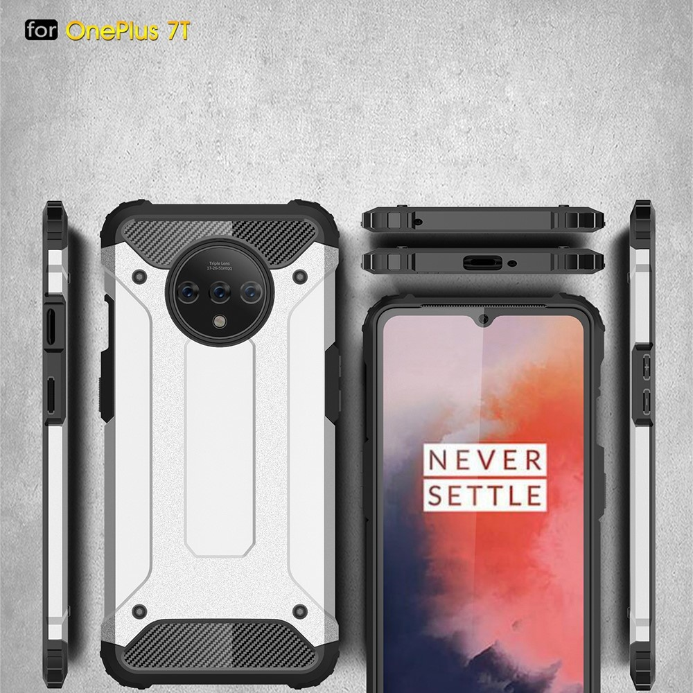 Lunso Armor Guard hoes donkerblauw voor de OnePlus 7T