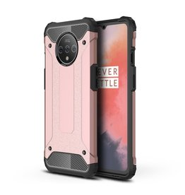 Lunso Lunso - Armor Guard hoes - OnePlus 7T Pro - Rose Goud