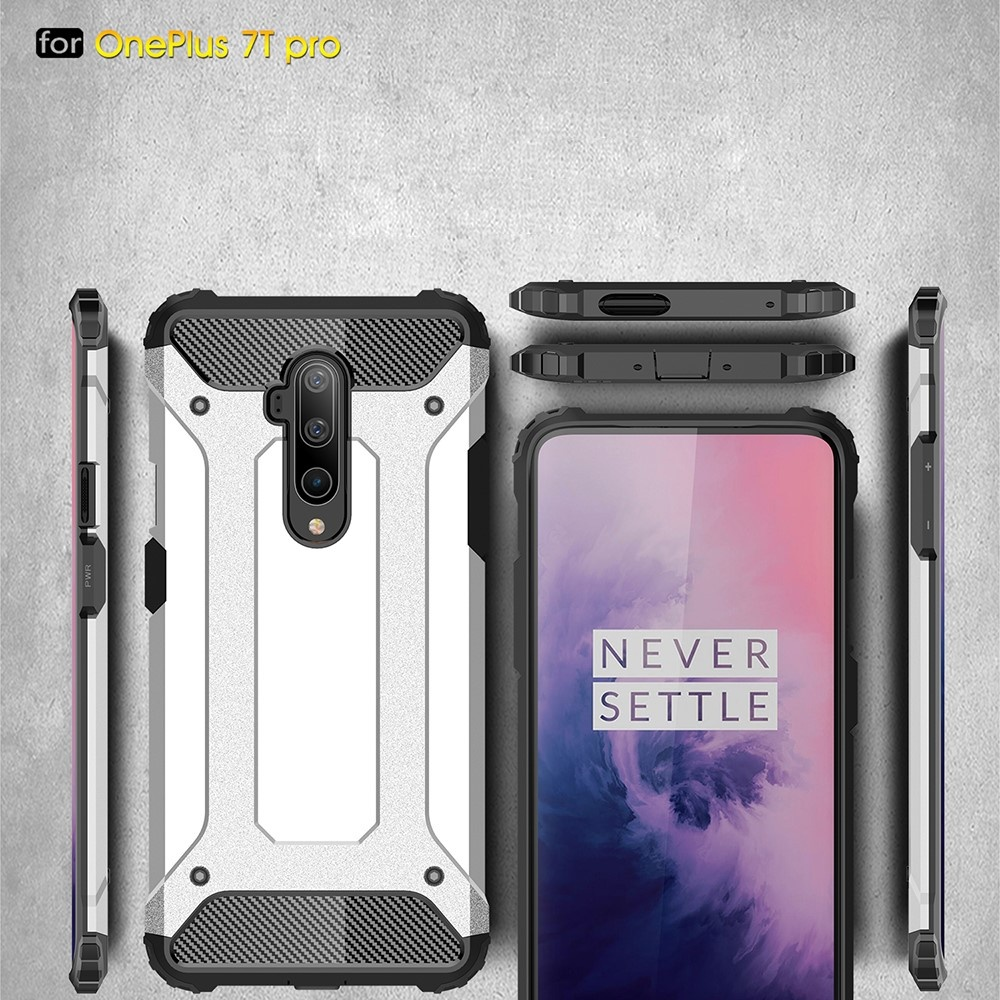 Lunso Armor Guard hoes Donkerblauw voor de OnePlus 7T Pro