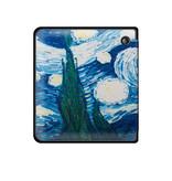 Lunso Sleepcover flip hoes Van Gogh Schilderij voor de Kobo Libra H20 (7 inch)