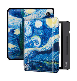 Lunso Lunso - sleepcover flip hoes - Kobo Libra H20 (7 inch) - Van Gogh Schilderij