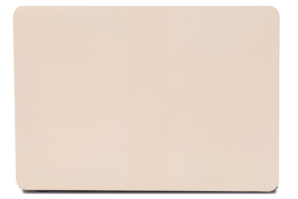 Lunso Candy cover hoes beige voor de MacBook Pro 15 inch (2016-2019)