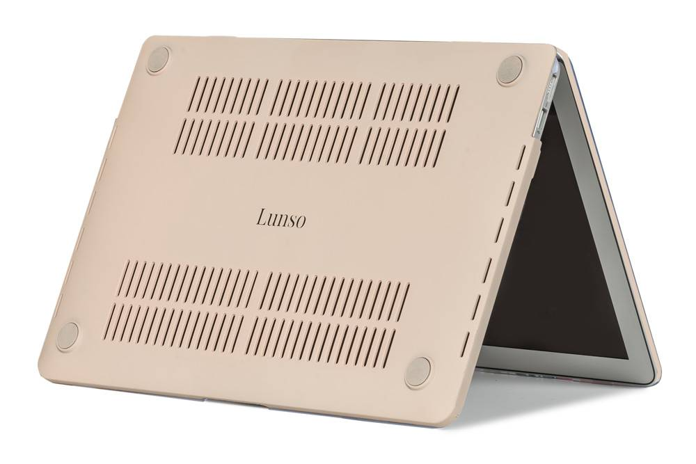 Lunso Candy cover hoes beige voor de MacBook Pro 15 inch (2016-2020)