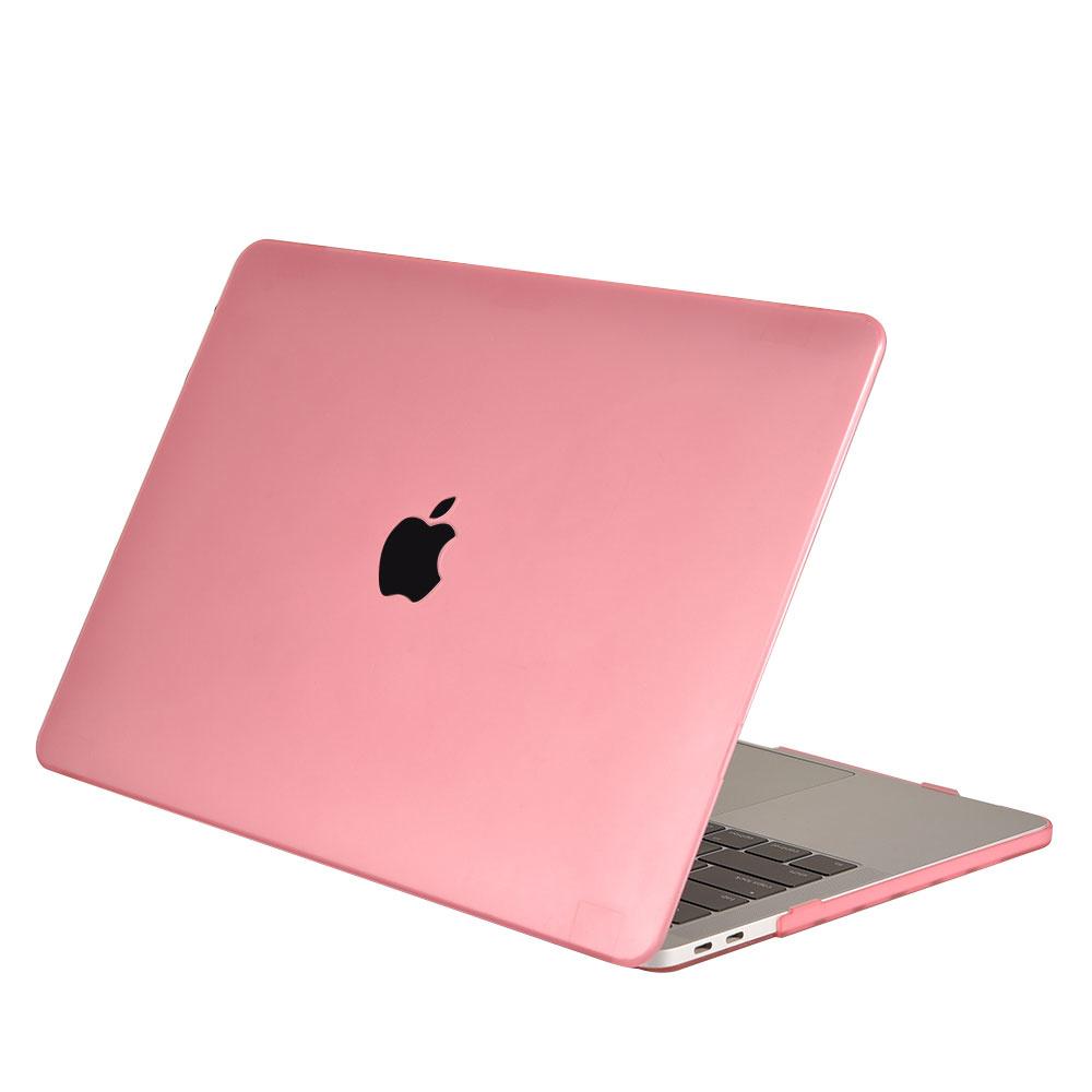 Lunso Cover hoes Mat Lichtroze voor de MacBook Air 13 inch (2018-2019)