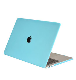 Lunso Cover hoes Mat Lichtblauw voor de MacBook Air 13 inch (2018-2019)