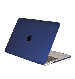 Lunso Lunso - cover hoes - MacBook Air 13 inch (2018-2019) - Mat Marineblauw