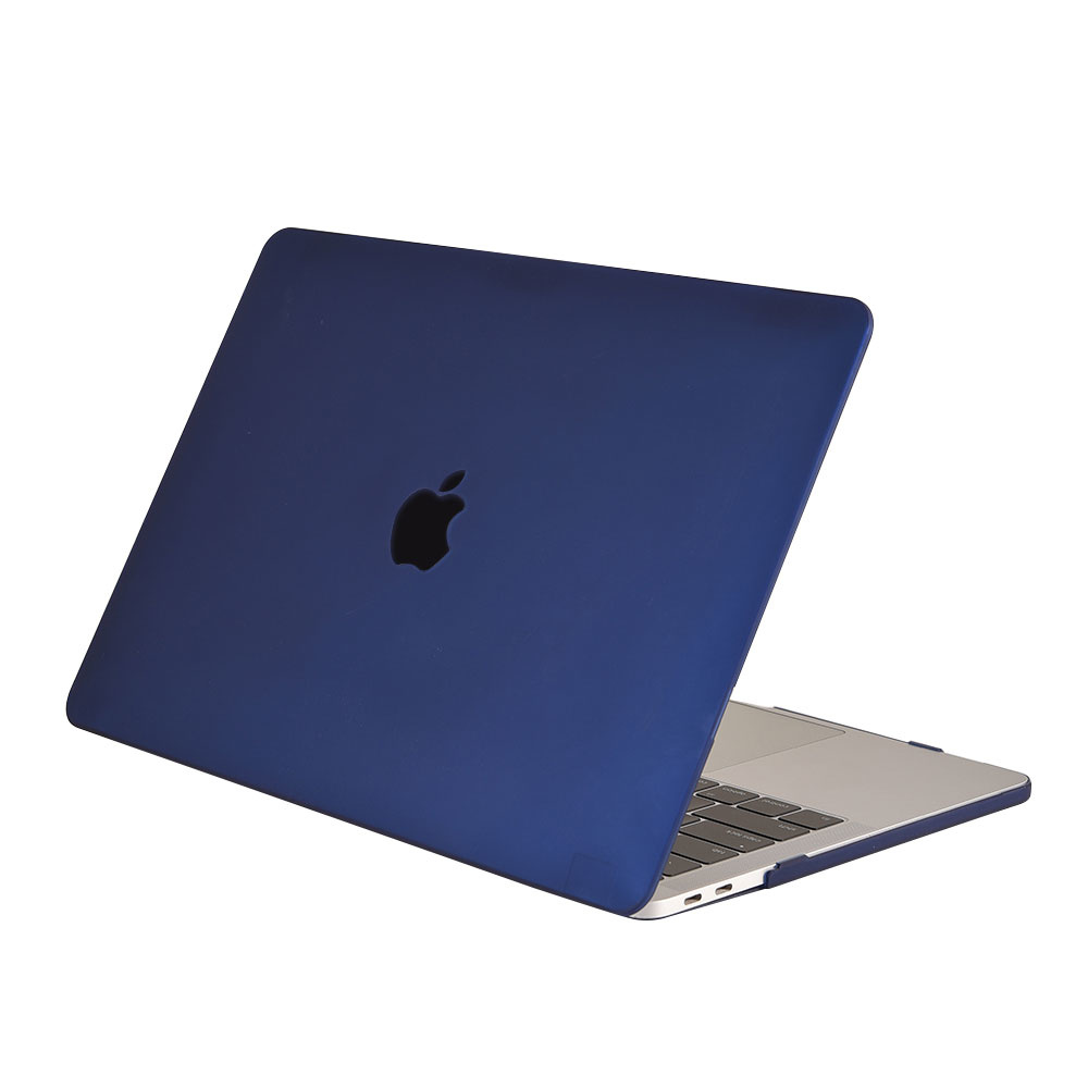 Lunso Cover hoes Mat Marineblauw voor de MacBook Air 13 inch (2018-2019)