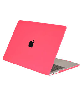 Lunso Cover hoes Mat Fuchsia voor de MacBook Air 13 inch (2018-2019)