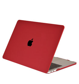 Lunso Lunso - cover hoes - MacBook Air 13 inch (2018-2019) - Mat Bordeaux Rood