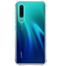 Lunso Schokbestendige softcase hoes - Huawei P30 - Transparant