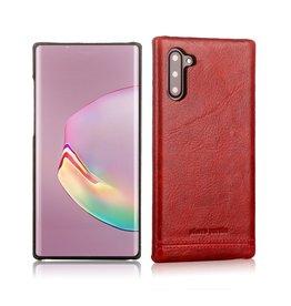Pierre Cardin Pierre Cardin - echt lederen backcover hoes - Samsung Galaxy Note 10 - Rood