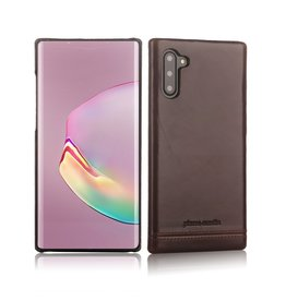 Pierre Cardin Pierre Cardin - echt lederen backcover hoes - Samsung Galaxy Note 10 - Coffee