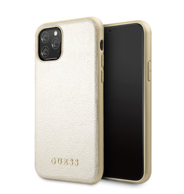 Guess Guess - backcover hoes - iPhone 11 Pro Max - Goud + Lunso beschermfolie