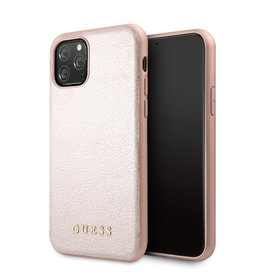 Guess Guess - backcover hoes - iPhone 11 Pro Max - Rose Goud + Lunso beschermfolie