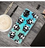 Lunso Softcase hoes Panda's voor de Samsung Galaxy S20 Plus