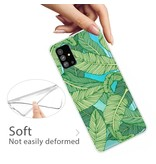 Lunso Softcase hoes Bladeren voor de Samsung Galaxy S20 Plus