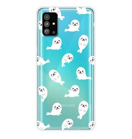 Lunso Softcase hoes - Samsung Galaxy S20 Plus - Zeehonden