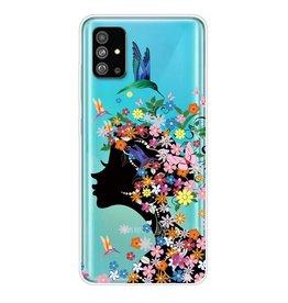 Lunso Softcase hoes - Samsung Galaxy S20 Plus - Meisje met bloemen