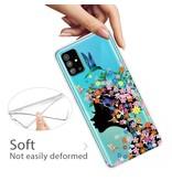 Lunso Softcase hoes Meisje met bloemen voor de Samsung Galaxy S20 Plus