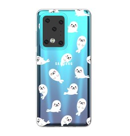 Lunso Softcase hoes - Samsung Galaxy S20 Ultra - Zeehonden
