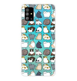 Lunso Softcase hoes - Samsung Galaxy S20 Plus - Katten