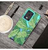 Lunso Softcase hoes Bladeren voor de Samsung Galaxy S20 Ultra