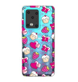 Lunso Softcase hoes - Samsung Galaxy S20 Ultra - Hartjes