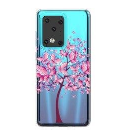 Lunso Softcase hoes - Samsung Galaxy S20 Ultra - Vlinderboom