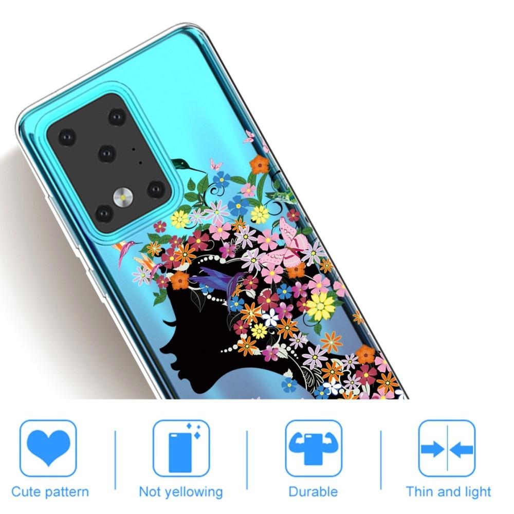 Lunso Softcase hoes Meisje met bloemen  voor de Samsung Galaxy S20 Ultra